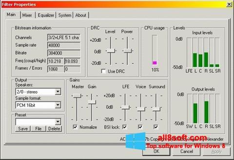 Screenshot AC3 Codec Windows 8