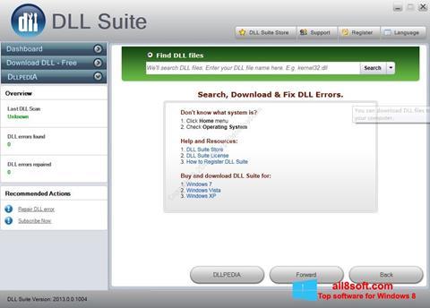 Screenshot DLL Suite Windows 8