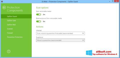 Screenshot Dr.Web Security Space Windows 8
