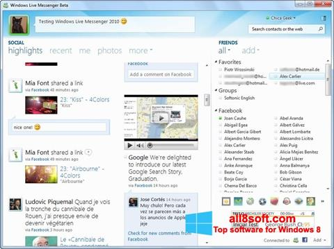 Screenshot Windows Live Messenger Windows 8