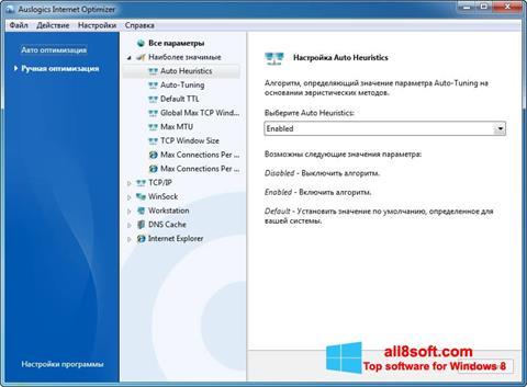 Screenshot Auslogics Internet Optimizer Windows 8