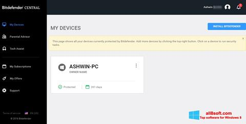 Screenshot Bitdefender Windows 8