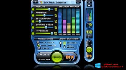 Screenshot DFX Audio Enhancer Windows 8