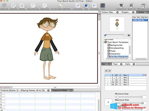 Screenshot Toon Boom Studio Windows 8