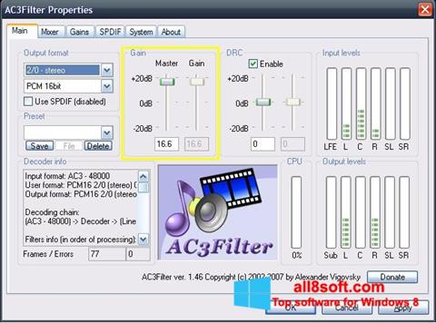 Screenshot AC3Filter Windows 8