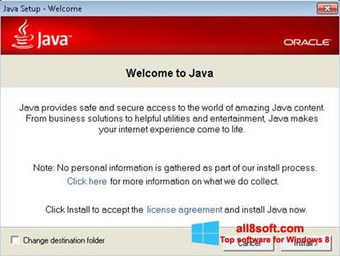 Screenshot Java Runtime Environment Windows 8