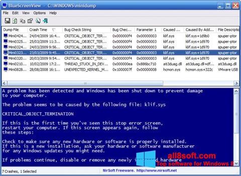 Screenshot BlueScreenView Windows 8
