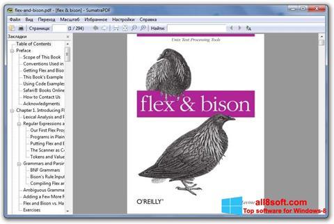 Screenshot Sumatra PDF Windows 8
