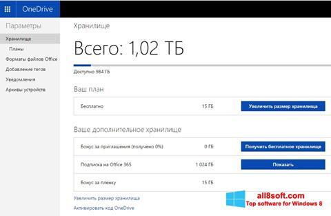Screenshot OneDrive Windows 8