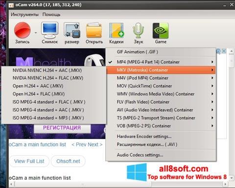 Screenshot oCam Screen Recorder Windows 8