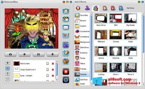 Screenshot WebcamMax Windows 8